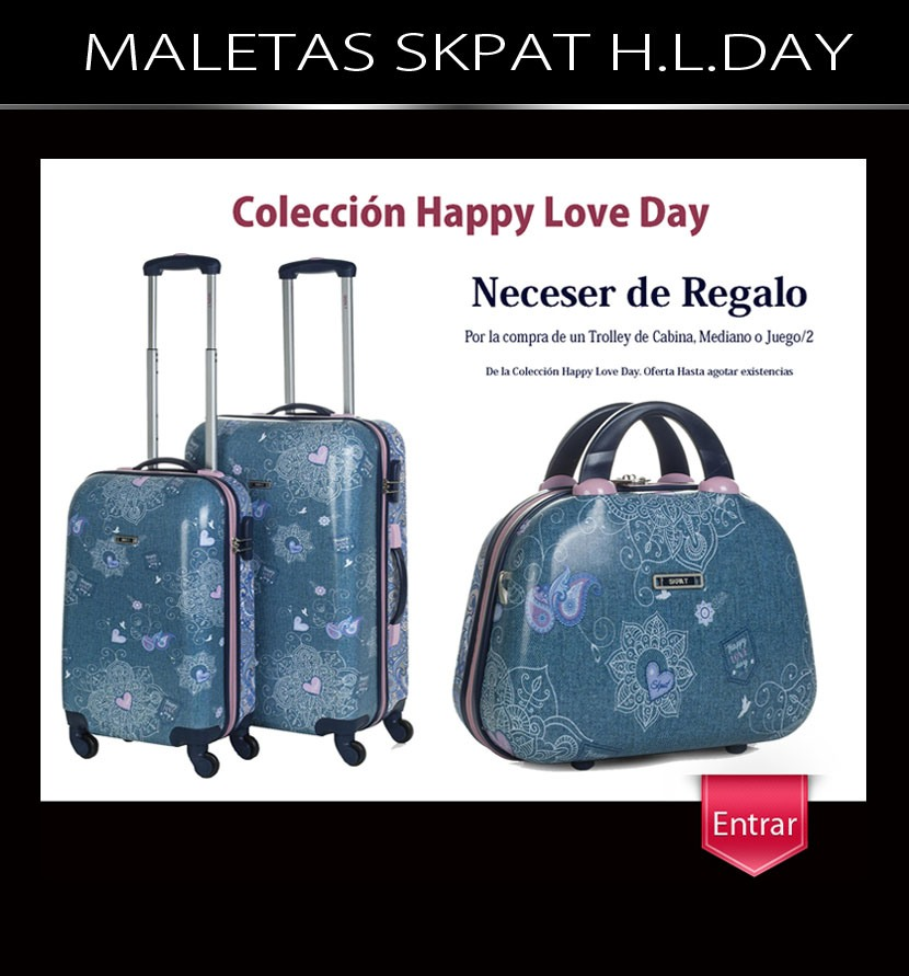 Maletas Skpat Happy Love Day